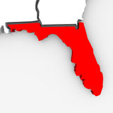 La Florida - abstraiga la correspondencia del estado Foto de archivo libre de regalías