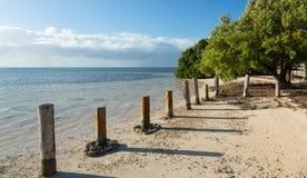 La Florida cierra la playa de Anne fotos de archivo