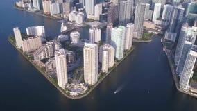 La Florida Miami julio de 2017 aéreo Sunny Day 4K inspira 2 almacen de metraje de vídeo