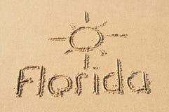 La Floride dans le sable Image stock