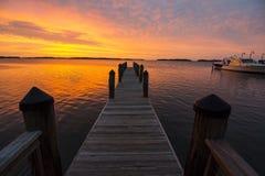 La Floride introduit le coucher du soleil Photo stock
