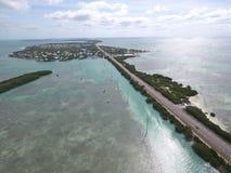 La Floride verrouille la route d'outre-mer images libres de droits