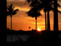 La Floride verrouille le coucher du soleil 4 Photos libres de droits