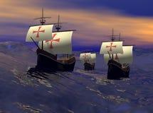 La flota Foto de archivo libre de regalías