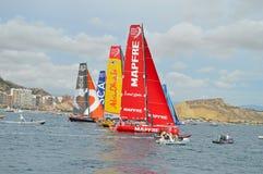 La flotte de course d'océan de Volvo Images libres de droits