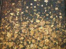La foglia di oro, dora la struttura del fondo Fotografia Stock Libera da Diritti