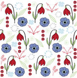 La foglia & il fiore hanno messo 4 variopinti illustrazione di stock