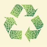 La foglia ricicla Fotografie Stock Libere da Diritti
