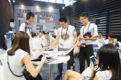 La foire commerciale de quinzième de la Chine (Shenzhen) de marque habillement international d'habillement images stock