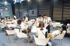 La foire commerciale de quinzième de la Chine (Shenzhen) de marque habillement international d'habillement images libres de droits