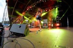 La folla in un concerto al festival FIB immagini stock
