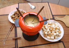 La 'fondue' Fotografía de archivo