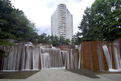 La fontaine de l'IRA, Portland Orégon Photographie stock