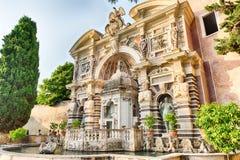 La fontaine de l'organe, d'Este de villa, Tivoli, Italie images libres de droits
