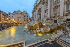 La fontaine de TREVI à Rome, Italie Photographie stock libre de droits