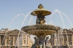 La Fontaine des Fleuves fountain at Place de la Concord, Paris. La Fontaine des Fleuves fountain at Place de la Concord, Paris - France Stock Photography