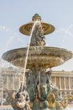 La Fontaine des Fleuves fountain at Place de la Concord, Paris. La Fontaine des Fleuves fountain at Place de la Concord, Paris - France Royalty Free Stock Photo