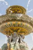 La Fontaine des Fleuves fountain at Place de la Concord, Paris. La Fontaine des Fleuves fountain at Place de la Concord, Paris - France Stock Image