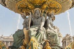 La Fontaine des Fleuves fountain at Place de la Concord, Paris. La Fontaine des Fleuves fountain at Place de la Concord, Paris - France Royalty Free Stock Images