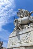 La fontaine des Licornes in Montpellier, France Stock Image
