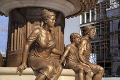 La fontaine des mères de Macédoine, place de Phillip II, Sko Images stock