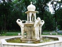 La fontaine en parc Parc dans la ville de Nalchik Images stock