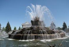 La fontaine en pierre de fleur dans VVC Photo libre de droits