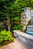 La fontaine et le jardin chez Piémont se garent à Atlanta, la Géorgie photographie stock libre de droits