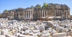La fontaine latérale de Nymphaeum ruine 03 Photos libres de droits