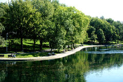La Fontaine Park Royalty Free Stock Images