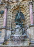 La Fontaine Saint-Michel Royalty Free Stock Photography