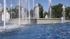 La fontana in Anapa, regione di Krasnodar in Russia del sud stock footage