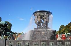 La fontana bronzea Immagine Stock