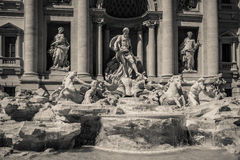 La fontana de Trevi, Roma, Italia Fotografia Stock Libera da Diritti