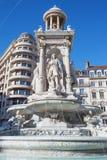 La fontana del Jacobin famoso Fotografie Stock Libere da Diritti