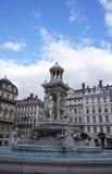 La fontana del Jacobin a Lione, Francia immagine stock libera da diritti