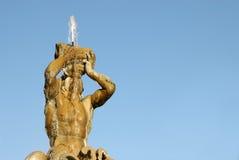La fontana del tritone a Roma Immagini Stock Libere da Diritti