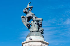La fontana dell'angelo caduto a Madrid, Spagna Fotografia Stock