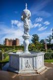 La fontana dell'atlante al castello di Kenilworth fotografia stock libera da diritti