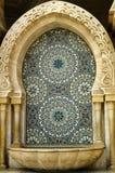 La fontana della moschea a Casablanca Immagini Stock Libere da Diritti