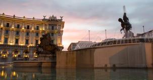 La fontana delle naiadi - Roma fotografie stock