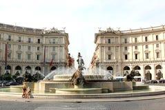 La fontana delle naiadi, Roma, Italia Fotografia Stock Libera da Diritti