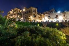 La fontana di Arethusa in Ortigia fotografia stock