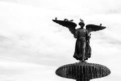 La fontana di Bethesda in una mattina di autunno Fotografia Stock Libera da Diritti