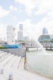 La fontana di Merlion a Singapore Immagini Stock