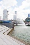 La fontana di Merlion a Singapore Fotografia Stock Libera da Diritti