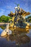 La fontana di Nettuno a Berlino Fotografia Stock Libera da Diritti