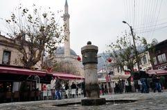 La fontana di Shadrvan in Prizren, il Kosovo Fotografia Stock Libera da Diritti