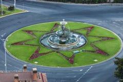 La fontana di tre tolleranze a Malaga Immagini Stock