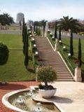 La fontana fa il giardinaggio Bahai a Haifa Immagine Stock